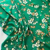 Ткани ручной работы. Ярмарка Мастеров - ручная работа Итальянский штапель с цветочным принтом. Handmade.