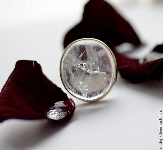 """Кольца ручной работы. Ярмарка Мастеров - ручная работа. Купить Кольцо с натролитом """" Хибинский лёд"""", серебро. Handmade. Белый"""