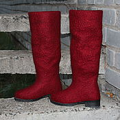 Обувь ручной работы. Ярмарка Мастеров - ручная работа Валяные сапоги  Марсала. Handmade.