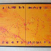 Картины и панно ручной работы. Ярмарка Мастеров - ручная работа Абстракция. Диптих на желтом. (для Константина). Handmade.