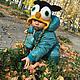 Детская шапка `Совенок`