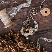 Украшения handmade. Livemaster - original item Meeting the Wind in the Willows. Bird. Brooch. Handmade.