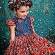 Одежда для девочек, ручной работы. Заказать Платье ЗИМНЯЯ ВИШНЯ. Анастасия Курбатова (anastakurbatova). Ярмарка Мастеров. Зимняя вишня, сетка
