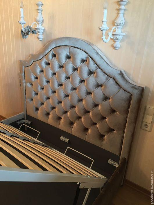 Мебель ручной работы. Ярмарка Мастеров - ручная работа. Купить Кровать Jane. Handmade. Хаки, красивые кровати, мебель для спальни