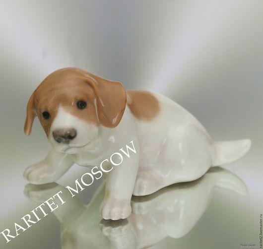 Винтажные предметы интерьера. Ярмарка Мастеров - ручная работа. Купить Собака щенок статуэтка фарфор Дания клеймо 75. Handmade.