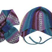 Работы для детей, ручной работы. Ярмарка Мастеров - ручная работа Вязаный детский комплект шапочка с ушками, мысиком и шарфик. Handmade.