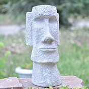 Для дома и интерьера handmade. Livemaster - original item Moai statue made of concrete for interior decoration and garden. Handmade.