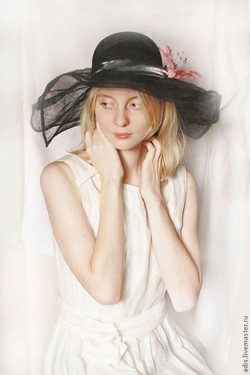 Шляпы ручной работы. Ярмарка Мастеров - ручная работа. Купить соломенная шляпа. Handmade. Черный, соломмка, черная соломка, синамей