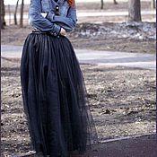 Одежда ручной работы. Ярмарка Мастеров - ручная работа Юбка из фатина длинная. Handmade.