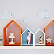 Для дома и интерьера ручной работы. Ярмарка Мастеров - ручная работа Полочки -домики. Handmade.