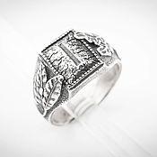 Украшения ручной работы. Ярмарка Мастеров - ручная работа Кольцо с руной Иса, серебряный перстень, славянский символ. Handmade.