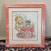 """Картины и панно ручной работы. Ярмарка Мастеров - ручная работа Картина """"Чаепитие"""". Handmade."""