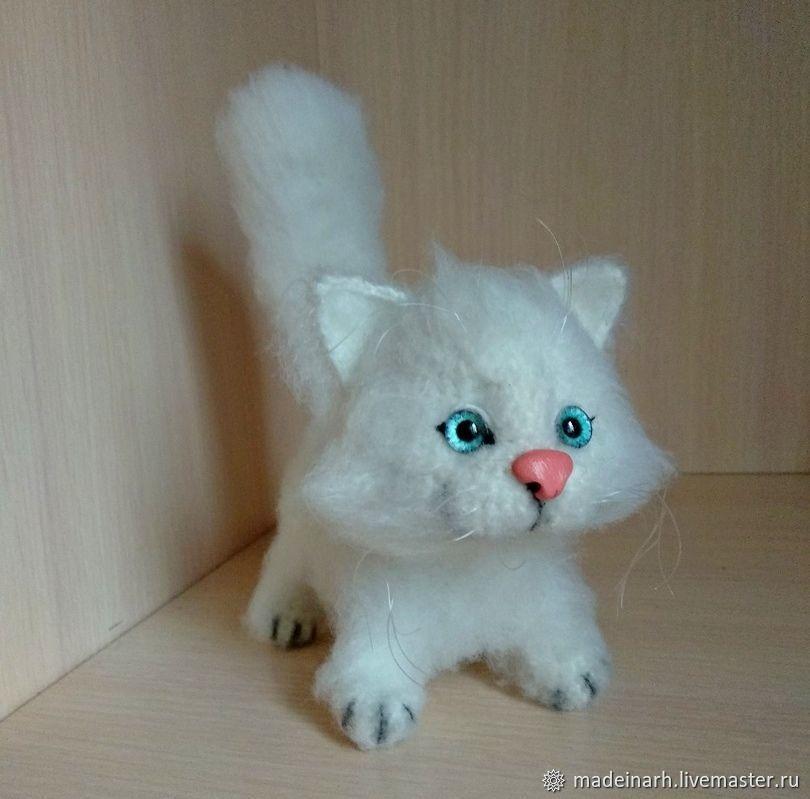 Игрушки: белый котенок, Мягкие игрушки, Архангельск,  Фото №1