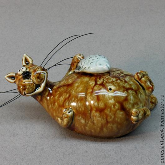 Духовые инструменты ручной работы. Ярмарка Мастеров - ручная работа. Купить кот лежебока окарина. Handmade. Кот, свисток, ангобы