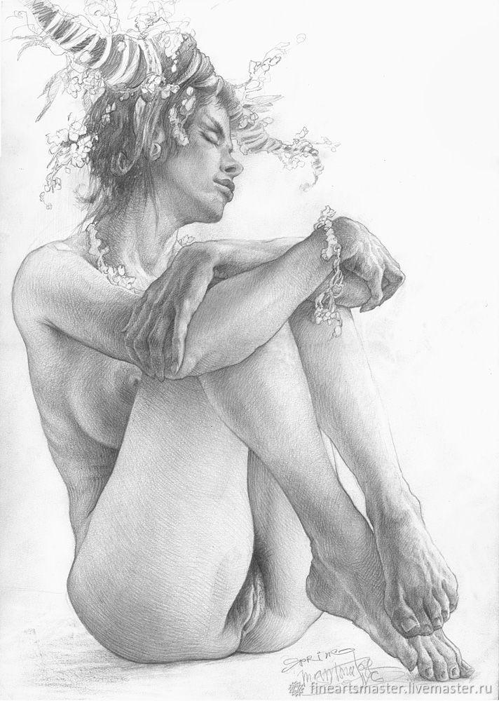 Женщина Обнаженная Эскиз