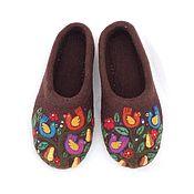 Обувь ручной работы. Ярмарка Мастеров - ручная работа Тапочки Птичий базар. Handmade.