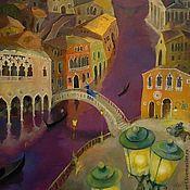 Картины и панно handmade. Livemaster - original item Venice night and carnival Postcard. Handmade.