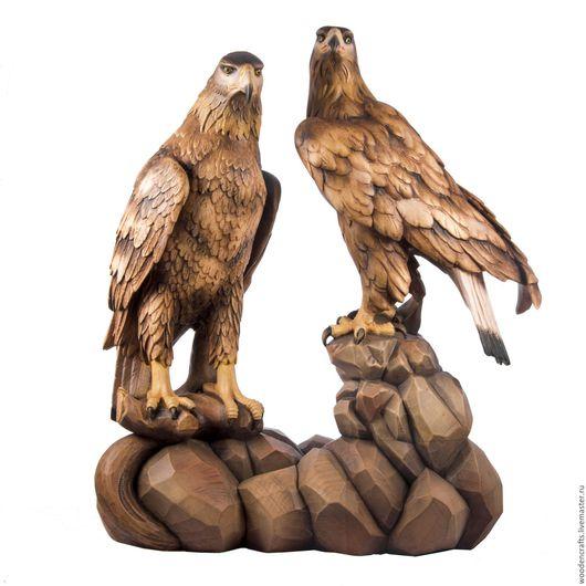 """Персональные подарки ручной работы. Ярмарка Мастеров - ручная работа. Купить Скульптура из дерева """"Пара орлов"""". Handmade. Подарок паре"""