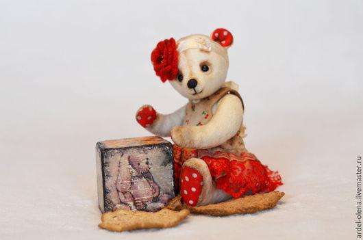 Мишки Тедди ручной работы. Ярмарка Мастеров - ручная работа. Купить Роза.Авторский Мишка Тедди. Handmade. Белый, мишка