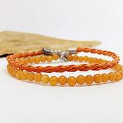 Украшения handmade. Livemaster - original item The bracelet is made of natural orange aventurine double. Handmade.