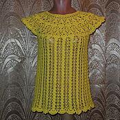 Одежда ручной работы. Ярмарка Мастеров - ручная работа Топ желтый. Handmade.
