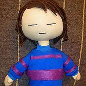Куклы и игрушки handmade. Livemaster - original item Frisk from Undertale. Textile doll.. Handmade.