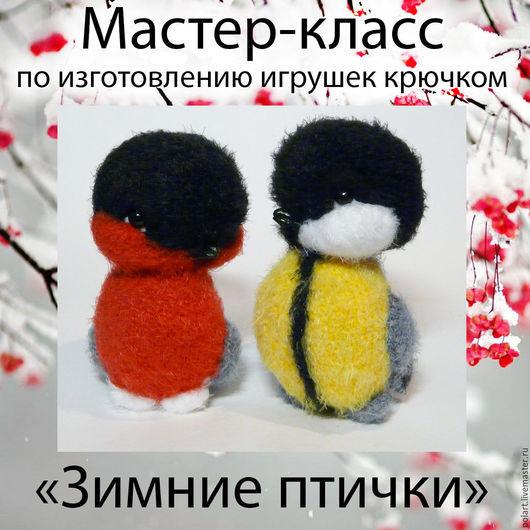 Вязание ручной работы. Ярмарка Мастеров - ручная работа. Купить Мастер-класс Зимние птички (2 в 1). Handmade. Снегирь