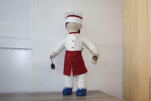 Куклы тыквоголовки ручной работы. Ярмарка Мастеров - ручная работа. Купить Кукла текстильная повар. Handmade. Кукла текстильная, куклы
