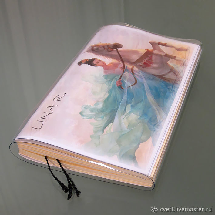 Personalized Notepad SOULBOOK-ART `LINA` in the cover of soft plastic.