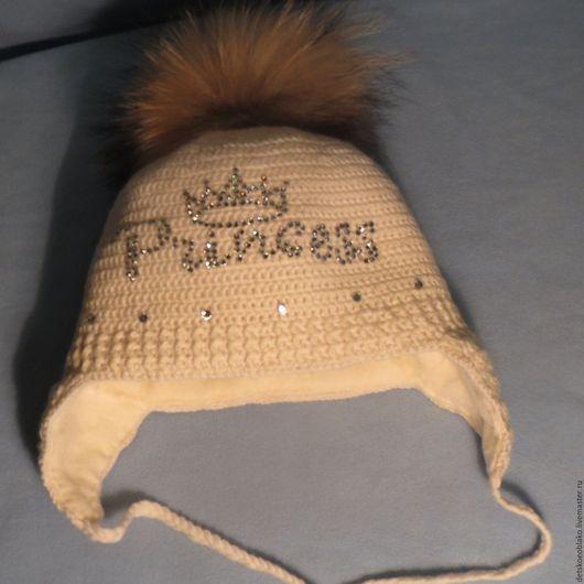 детская шапка с шикарным помпоном