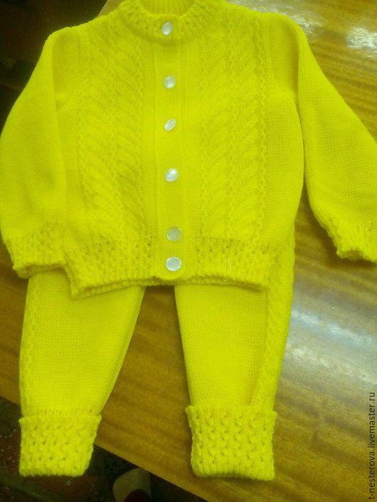Одежда унисекс ручной работы. Ярмарка Мастеров - ручная работа. Купить Детский костюм. Handmade. Желтый, жакет, жакет для девочки