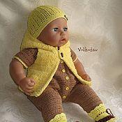 Куклы и игрушки ручной работы. Ярмарка Мастеров - ручная работа Подсолнушек. Комплект одежды для куклы.. Handmade.