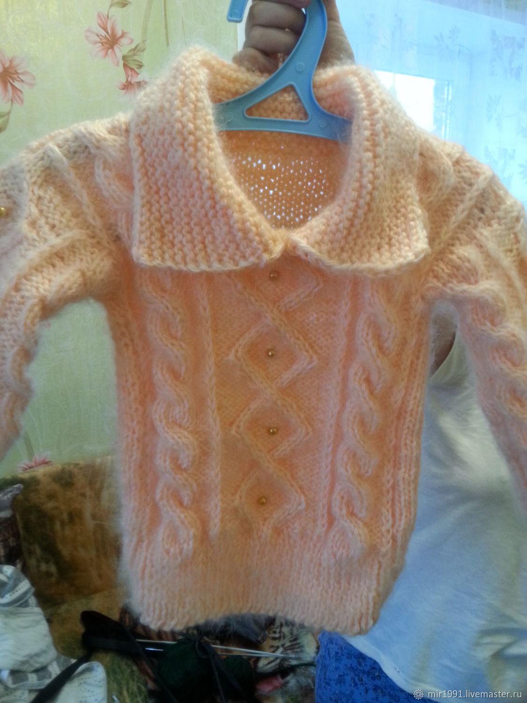 Кофты и свитера ручной работы. Ярмарка Мастеров - ручная работа. Купить Пуховый свитерок. Handmade. Бежевый, Персиковый цвет
