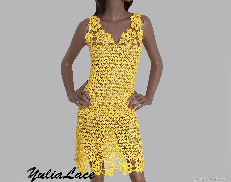 Платья ручной работы. Ярмарка Мастеров - ручная работа. Купить Вязаное платье. Handmade. Вязание крючком, платье коктейльное