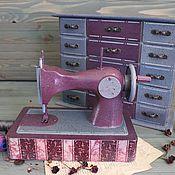 """Для дома и интерьера ручной работы. Ярмарка Мастеров - ручная работа Швейная машинка+комодик """"MARSALA"""". Handmade."""