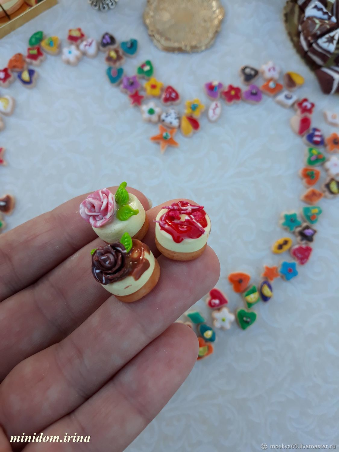 Sweets for Dollhouse miniatures - Food for dolls, Doll food, Moscow,  Фото №1