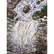 Картины и панно ручной работы. Ярмарка Мастеров - ручная работа Водопад. Handmade.
