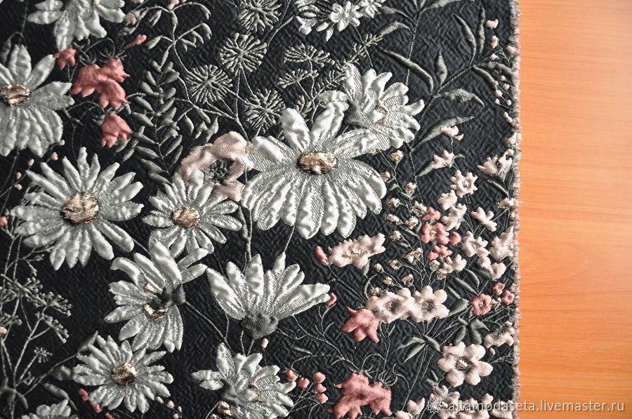 Жаккард от Valentino с цветами, Ткани, Москва,  Фото №1