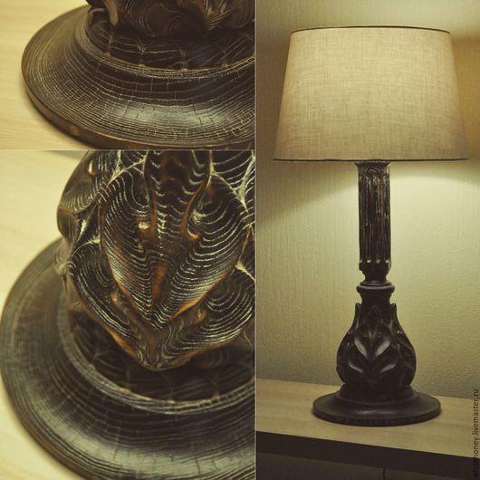 Освещение ручной работы. Ярмарка Мастеров - ручная работа. Купить Лампа настольная из ясеня 1. Handmade. Лампа настольная, комбинированный