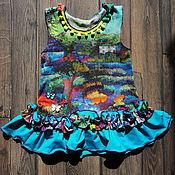 Работы для детей, ручной работы. Ярмарка Мастеров - ручная работа Детское платьице. Handmade.