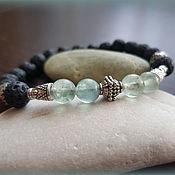 Украшения handmade. Livemaster - original item Bracelet Knight of lava and fluorite.. Handmade.