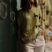 Одежда handmade. Livemaster - original item Jackets: Women`s Summer Blouse Short Sleeve Llamas. Handmade.