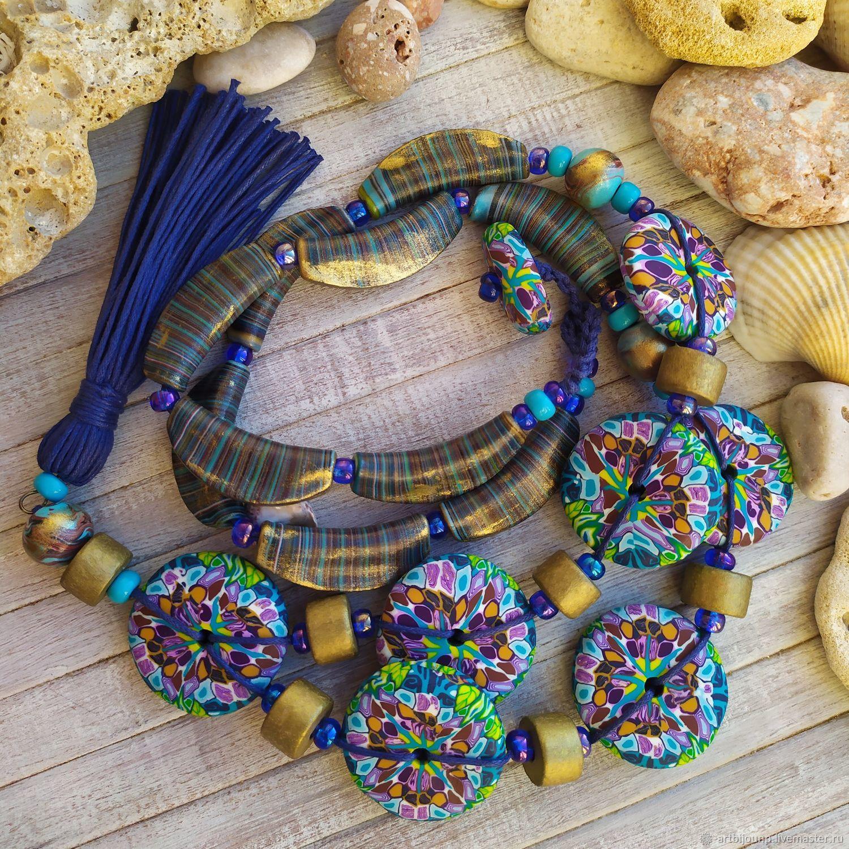 Necklace Elegy. Long boho beads, Necklace, Zelenograd,  Фото №1