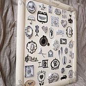 """Картины и панно ручной работы. Ярмарка Мастеров - ручная работа Интерьерное панно""""Винтаж.Монохром"""". Handmade."""