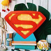 Для дома и интерьера ручной работы. Ярмарка Мастеров - ручная работа Детский светильник Супермен. Handmade.