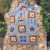 """Для дома и интерьера ручной работы. Ярмарка Мастеров - ручная работа """"Бриз"""", лоскутное одеяло. Handmade."""