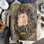 """Канцелярские товары ручной работы. Ярмарка Мастеров - ручная работа Дневник """"да Винчи"""". Handmade."""