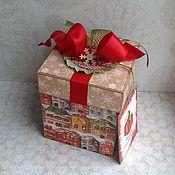 Открытки ручной работы. Ярмарка Мастеров - ручная работа Новогодняя подарочная коробочка Magic Box Лучший день. Handmade.
