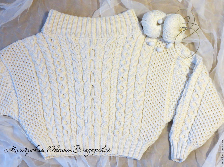 Knitted sweater 'Luxury silk' sweater in explanation Ruban, Sweaters, St. Petersburg,  Фото №1