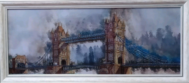 """Вышитая бисером картина """"С любовью из Лондона"""", Картины, Москва,  Фото №1"""
